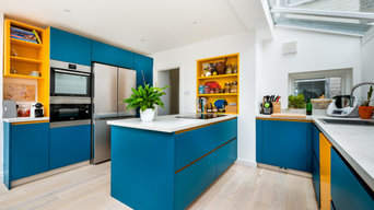 Stunning Blue & Yellow Kitchen