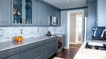 Stunning Gray cabinets with Berwyn Cambria countertops