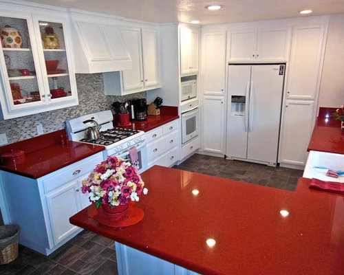 Red Quartz Countertops : Red quartz countertops ideas pictures remodel and decor