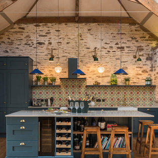 Stunning kitchen with our encaustic Havana cement tiles