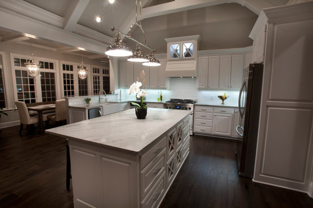 Transitional Kitchen by Granite Division Inc.