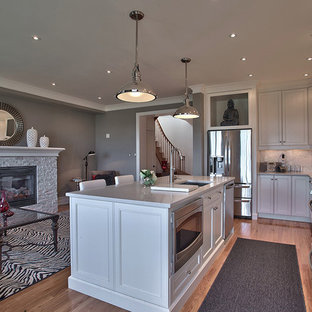 Trendy Kitchen Photo In Toronto With Stainless Steel Liances