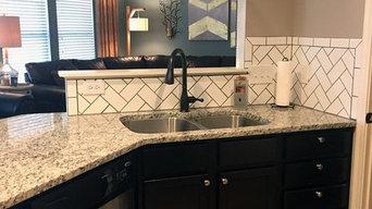 Subway Tile back splash (Herringbone pattern)