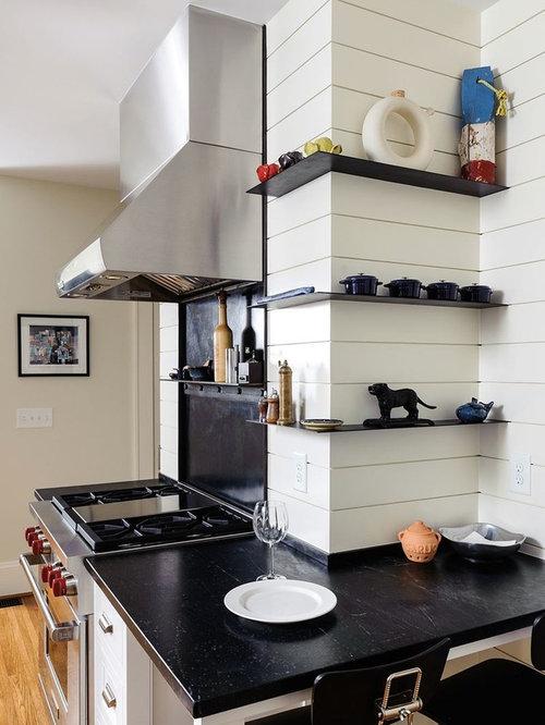 Modern Kitchen With Zinc Countertops Design Ideas