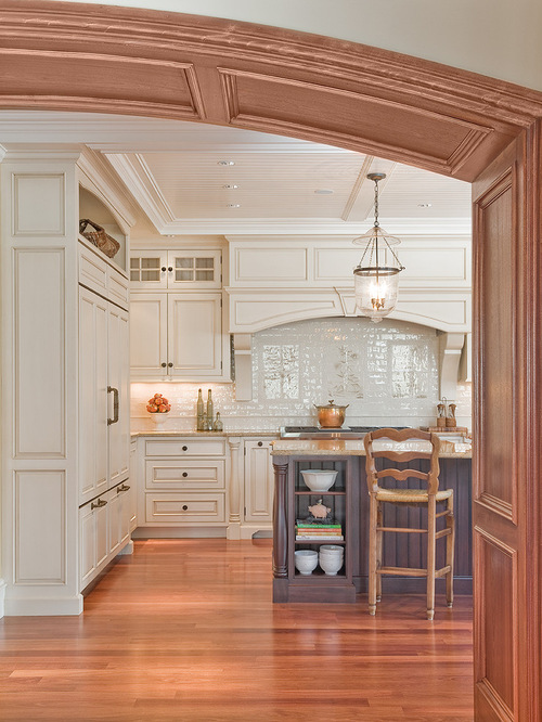backsplash panels kitchen wood trim white cabinets houzz 1435