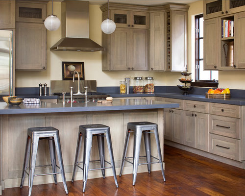 Grey Stained Wood Kitchen Cabinets ~ Grey stained alder houzz
