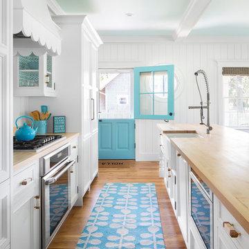 Summer House In Blue Custom Home - Kitchen