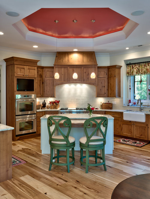 Example Of A Classic Kitchen Design In Other With A Farmhouse Sink