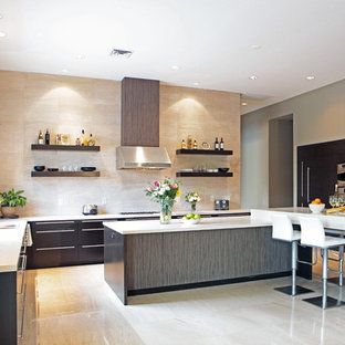 Trendy kitchen photo in Las Vegas with stainless steel appliances