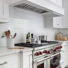 Transitional Kitchen by Kathy Tracey Design LLC