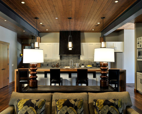 Family room kitchen combo houzz for Kitchen family room combo