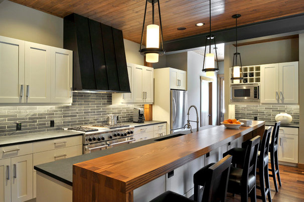 Transitional Kitchen by Clinkston Architects
