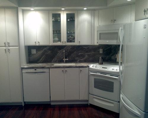 best kitchen with stone slab backsplash and laminate