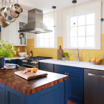 Sunny Subway Tiles Kitchen