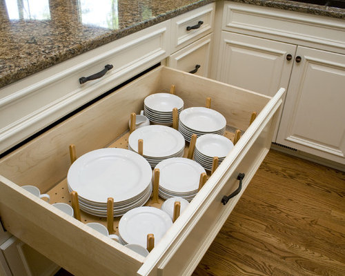 kitchen drawer plate organizers plate drawer houzz 4728