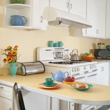 Sunny Yellow Retro Kitchen