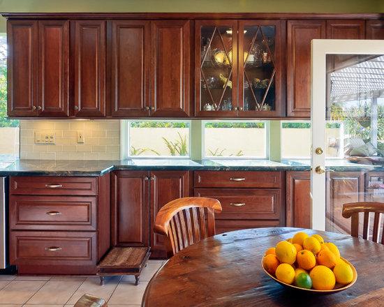 Kitchen Backsplash Cherry Cabinets cherry cabinet backsplash | houzz