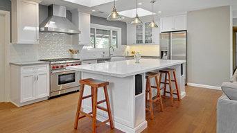 Sunnyvale Transitional White & Grey Kitchen