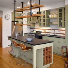 eclectic kitchen by Chr DAUER Architects
