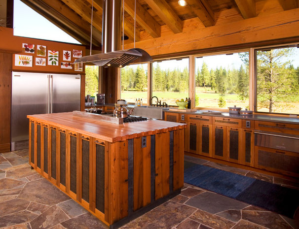 Rustic Kitchen by Robert Marr Construction, Inc.