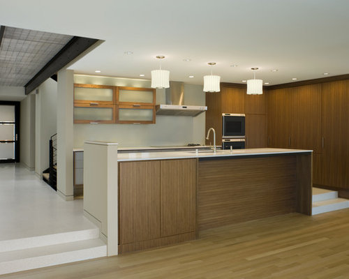 White Oak Floor Walnut Cabinets Home Design Ideas, Pictures, Remodel and Decor