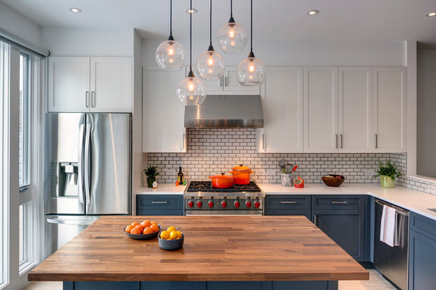 Transitional Kitchen by Barker Associates Architecture Office