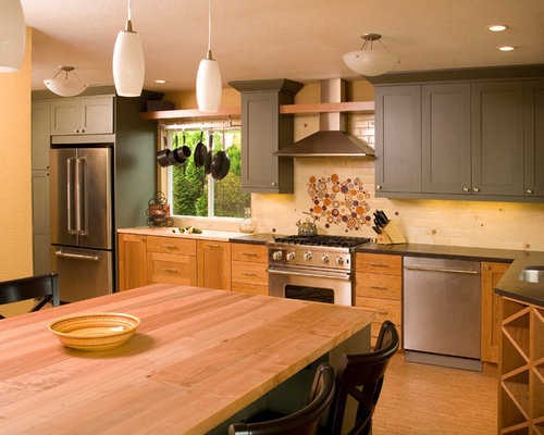 Painted Upper Cabinets Houzz