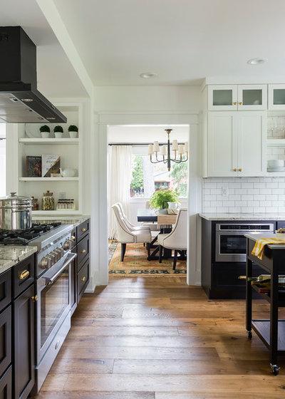 Transitional Kitchen by J. Kurtz Design