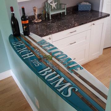 Surfboard table top