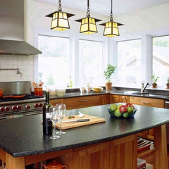 eclectic kitchen by Richard Bubnowski Design LLC