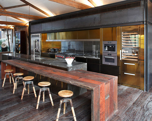 industrial kitchen design. Design Ideas For A Large Industrial Galley Open Plan Kitchen In Sydney With  Flat Panel 100 Industrial Kitchen Ideas Explore Designs