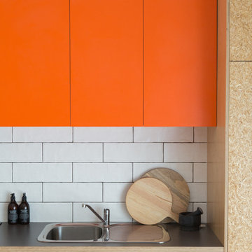 Sustainable Kitchen with a Pop of Colour