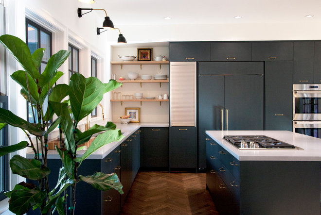 Transitional Kitchen by bright designlab