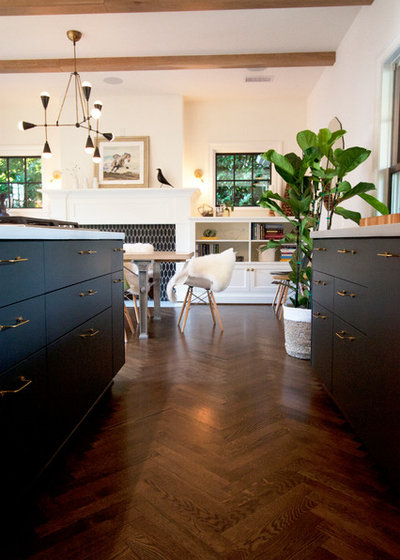 Transitional Kitchen by bright designlab