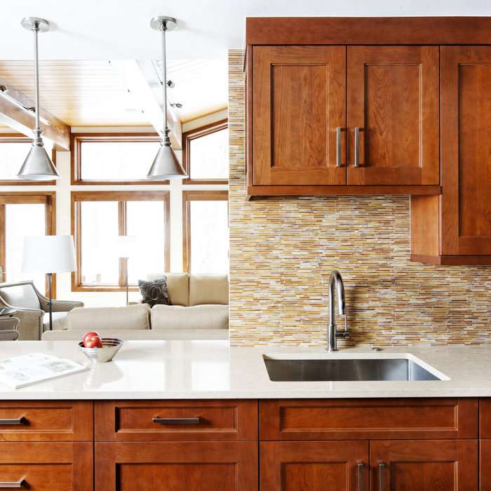 Inspiration for a contemporary kitchen remodel in Denver
