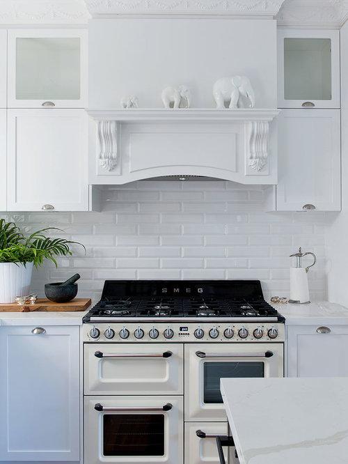 Kitchen Design Ideas, Renovations & Photos With White Appliances
