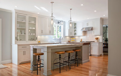 White Kitchens via apartment therapy White Kitchens Kitchen Of The Week Warm And Industrial In New Hampshire