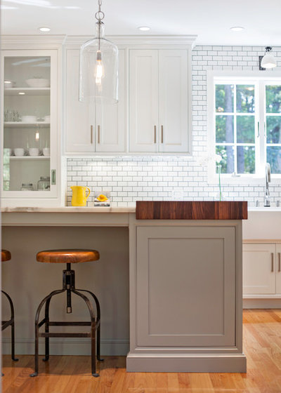 Kitchen Of The Week Warm And Industrial In New Hampshire