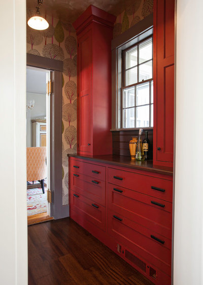 Transitional Kitchen by Pennville Custom Cabinetry
