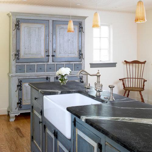 Ideas para cocinas fotos de cocinas con armarios tipo - Encimera de piedra ...