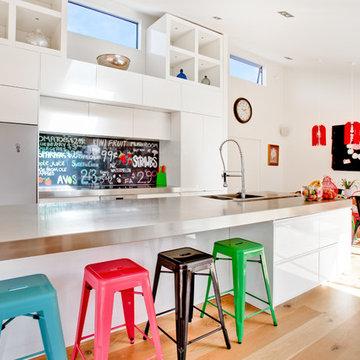'Sweet As' printed image on glass kitchen splashback  / backsplash
