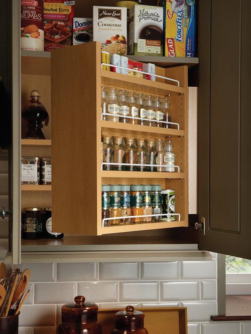 Upper Cabinet Spice Rack | Houzz