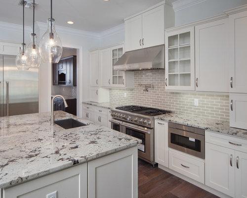 cuisine romantique avec un plan de travail en granite photos et id es d co de cuisines. Black Bedroom Furniture Sets. Home Design Ideas