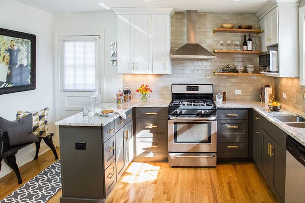 Transitional Kitchen by Donna Gilliam Interiors