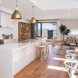 Design ideas for a beach style kitchen in Sydney.