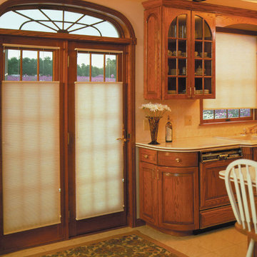 Symphony honeycomb Shades are perfect for doors
