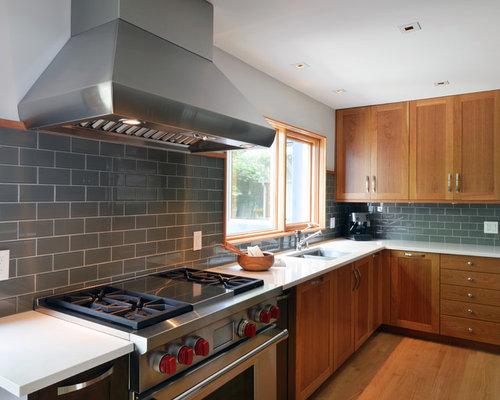 Gray Tile Backsplash Home Design Ideas, Pictures, Remodel ...