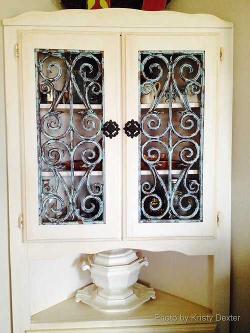 Faux Iron Cabinet Door Inserts