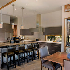 Contemporary Kitchen by J & C Custom Cabinets Inc.