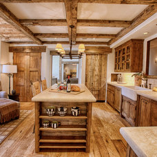Rustic Kitchen by Bratt Brothers Construction, Inc.